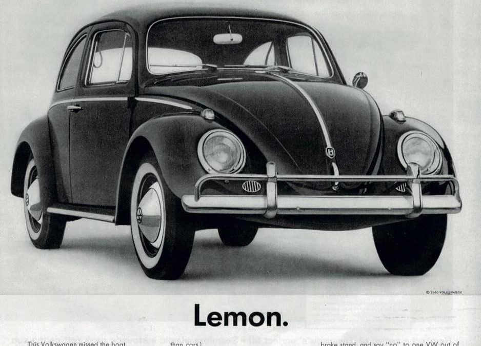 'Show don't tell', was invented by Volkswagen in 1959